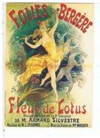 CPM-CPSM-PUBLICITE-FOLIES BERGERE-BALLET PANTOMINE-FLEUR DE LOTUS- - Advertising
