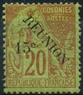 Reunion (1891) N 30 * (charniere) - Neufs