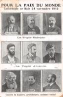 POUR LA PAIX DU MONDE - Bâle 24 Novembre 1912 - Jaurès - Hardie -Plékhanoff Contre La Guerre Prolétaires Unissez-vous! - Events