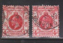 HONG KONG Scott # 111, 133 Used - King George V Watermarks 3 & 4 - Hong Kong (...-1997)