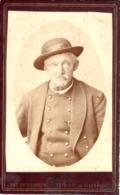 Porträt Mann Mit Hut - Kabinettfoto Von Ant. Rothbacher Kitzbühel Ca 1895-1900 - Fotografie