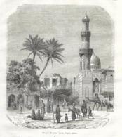 GRAVURE 1876...TURQUIE...CONSTANTINOPLE. Mosquée Du Grand Harem - Estampes & Gravures
