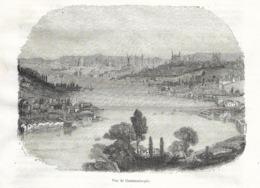 GRAVURE 1876...TURQUIE...Vue De CONSTANTINOPLE - Estampes & Gravures
