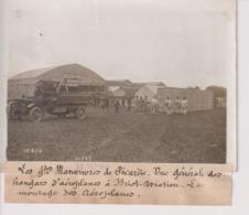 GRANDES MANOEUVRES DE PICARDIE HANGARS L'AEROPLANES BRIOT AVIATION  18*13CM Maurice-Louis BRANGER PARÍS (1874-1950) - Aviación