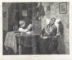 GRAVURE 1876.... Un BRAVE ENFANT - Estampes & Gravures