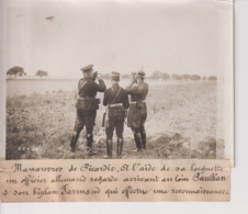 GRANDES MANOEUVRES DE PICARDIE PAULHAN OFFICIER ALLEMAND FARMAN AVIATION 18*13CM Maurice-Louis BRANGER PARÍS (1874-1950) - Aviación
