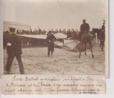 PARIS MADRID AEROPLAN DÉPART ISSY M BERTEAUX EST TUÉ CHUTE ACCIDENT  18*13CM Maurice-Louis BRANGER PARÍS (1874-1950) - Aviación