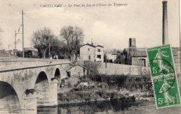 CASTELNAU-LE-LEZ LE PONT DU LEZ ET L'USINE DES TRAMWAYS - Castelnau Le Lez