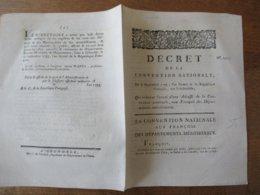 6 SEPTEMBRE 1793 DECRET N°1492 DE LA CONVENTION NATIONALE AUX FRANCOIS DES DEPARTEMENTS MERIDIONAUX - Décrets & Lois