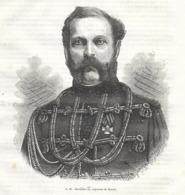 GRAVURE 1877....S.M. ALEXANDRE II, Empereur De RUSSIE - Estampes & Gravures