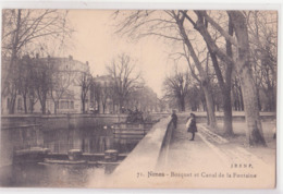 CPA -  71 - NIMES - BOSQUET ET CANAL DE LA FONTAINE - Nîmes