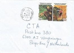 Cameroon Cameroun 2001 Ebolowa Depart Coffee Beans Dril Ape Monkey Cover - Kameroen (1960-...)