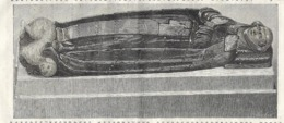 GRAVURE 1877....STATUE TUMULAIRE De La DUCHESSE BLANCHE De BRETAGNE - Estampes & Gravures