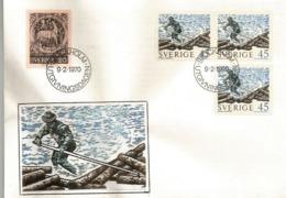 Floating Timber In Northern Sweden,   Letter From Sweden, Year 1970 - Schweden
