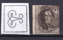 N° 3 Margé Bord De Feuille 117 THUIN - 1849-1850 Médaillons (3/5)