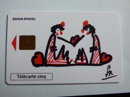 """Télécarte 5 Unités GN502 """"Sida Info S.Rykiel"""" 06/98 - GEM2 - TBE - 5 Unités"""