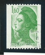 FRANCE: Obl., N°2222, VARIETE: Bande Phospho à Gauche, TB - 1982-90 Liberty Of Gandon