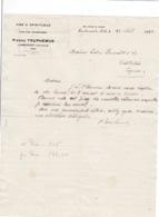 Courrier 1924 Vins Pierre Truphémus, Lambersart-lez-Lille, à Lucien Foucauld & Cie Distillateur Cognac - Banco & Caja De Ahorros