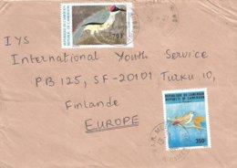 Cameroon Cameroun 1993 PAR Mezam Grey-necked Rockfowl Picathartes Oreas Nightingale Luscinia Megarhynchos Cover - Kameroen (1960-...)