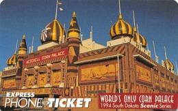 Express Phone Ticket - World's Only Corn Palace 1994 South Dakota - Phonecards