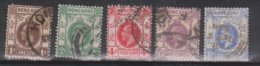 HONG KONG Scott # 109-11, 114, 134 Used - King George V Definitives - Used Stamps