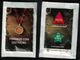 Portugal Sachet Sucre Sugar Delta Le Café De Votre Vie Prémio Cinco Estrelas Prix Cinq étoiles - Sucres