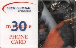 First Federal Of Michigan 30 Minutes Phone Card - Unclassified