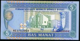 TURKMENISTAN - 5 Manat Nd.(1993) {Türkmenistanyň Merkezi Döwlet Banky} UNC P.2 - Turkménistan