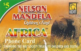Nelson Mandela Children's Fund Africa Phone Card IDT - Slightly Torn Paper Card - Phonecards