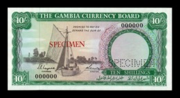 Gambia 10 Shillings 1965-1970 Pick 1s Specimen SC- AUNC - Gambia
