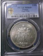5 FRANCS 1873 A FRANCE PCGS MS64 + - J. 5 Franchi