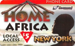 Home Africa Local Access New York $5 Phone Card - Diamond - Paper Card - Unclassified