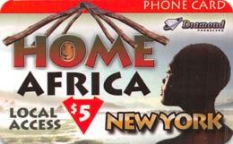 Home Africa Local Access New York $5 Phone Card - Diamond - Paper Card - Zonder Classificatie