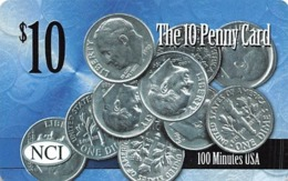 $10 The 10 Penny Card - 100 Minutes USA - NCI - Phonecards