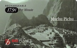 Big Planet Rechargeable Phone Card - Machu Pichu - Landscapes