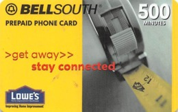 Lowes Bellsouth Prepaid Phone Card 500 Minutes - Phonecards