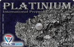 Platinum International Prepaid Calling Card 600 Units 013BARAK - Unclassified
