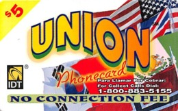 $5 Union Phonecard IDT - Unclassified