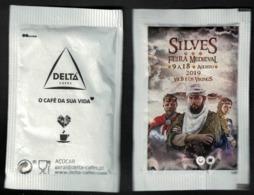 Portugal Sachet Sucre Sugar Delta Feira Medieval Foire Médiévale De Silves Xil B Et Les Vikings - Sucres