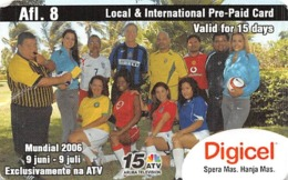 Digicel Local & International Prepaid Phone Card - Wrinkled Paper Card - Unclassified