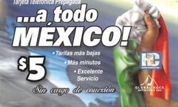 $5 ...a Todo MEXICO! Targeta Prepagada / Phone Card - Zonder Classificatie