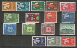 16 Stamps DIFFERENT - MNH - Europa-CEPT - Art - 1961 - 1961