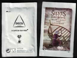 Portugal Sachet Sucre Sugar Delta Feira Medieval Foire Médiévale De Silves - Sucres