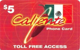$5 Caliente Phone Card - Unclassified