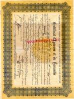42-ST  SAINT ETIENNE - CERTIFICAT EPREUVE ET GARANTIE MANUFACTURE FRANCAISE ARMES ET CYCLES ST ETIENNE-1936-FUSIL ROBUST - Documenti Storici