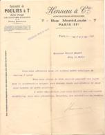 Vieux Papier - Paris - 75 - Spécialité De Poulies à T - Acier Forgé - Hennau & Cie - Constructeurs - Mai 1906 - Unclassified