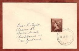 Brief, Kroenung Koenigin Elizabeth, Fakaofo Tokelau Nach Auckland 1953 (79064) - Tokelau