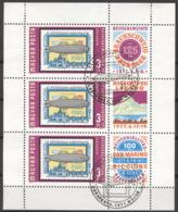 Ungarn 3201 Kleinbogen O Ersttagssonderstempel Briefmarkenausstellungen - Blocks & Kleinbögen