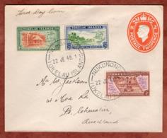 Ganzsache Als Formular, FDC Freimarken, Nukunono Tokelau Nach Auckland 1948 (79065) - Tokelau