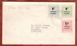 FDC Mit Inhalt, Stempelmarken Mit Aufdruck, Atafu Tokelau Nach Auckland 1966 (79066) - Tokelau